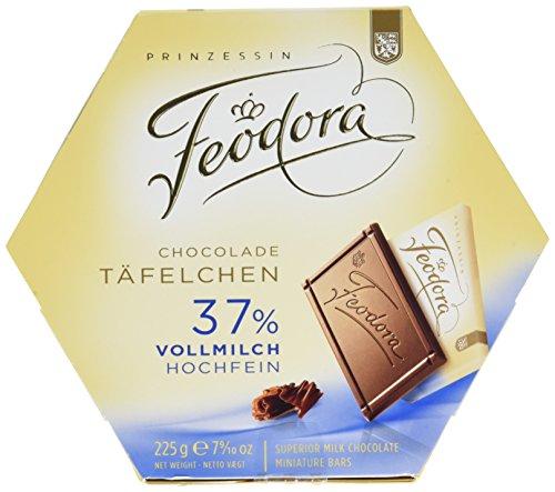 Feodora Schokolade Täfelchen 37 Prozent Vollmilch, 4er Pack (4 x 225 g)