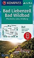 KOMPASS Wanderkarte Bad Liebenzell, Bad Wildbad 1:25 000: 3in1 Wanderkarte 1:25000 mit Aktiv Guide inklusive Karte zur offline Verwendung in der KOMPASS-App. Fahrradfahren. Reiten. Langlaufen.