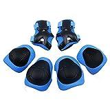 Niños de protecciones Rodillas Coderas y Muñequeras Set de Protección Infantil para Juego Patinaje Ciclismo Skate Bicicleta o otros Deportivos (Azul)