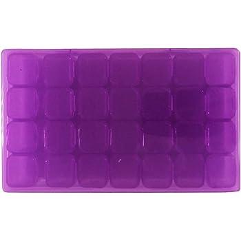 Healifty Caja de Almacanamiento de 28 Compartimentos de Plástico para Organizador Diamantes de Bordado Cuentas Arte de Uñas Joyería Bricolaje Manualidades (Púrpura)