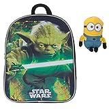 Fabrizio Kinderrucksack Kindergartenrucksack STAR WARS / DISNEY CARS Yoda Darth Vader + MINION Figur 15 cm (STAR WARS Yoda 9004)