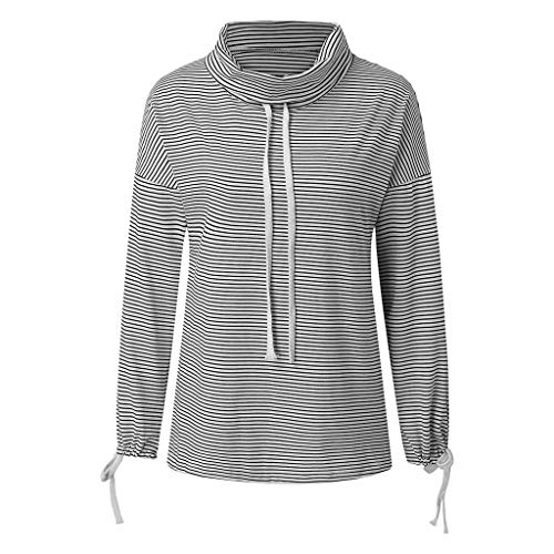 ZCMWY sweatshirt 3D het sweatshirt van de lente vrouwen trui overstijgt rolkraag manchet gestreept patroon drawstring oversized casual hoodie