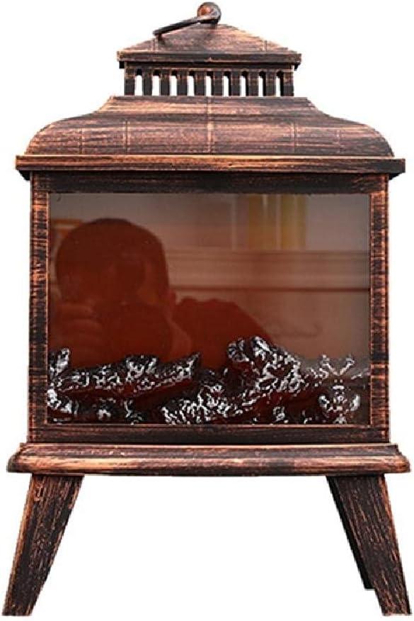 XIANSHI Luxury LED Fireplace Lantern Fla Decorative Christmas Elegant Halloween