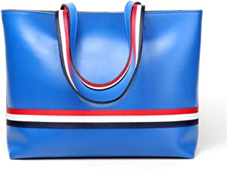 FengheYQ New Handbag Trend Casual Fashion Two-Piece Mother Bag Large Capacity Psoriasis Pack Size: 35 * 12 * 28 cm (Color : Blue)