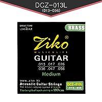 ZIKO アコースティックギター弦 Medium-高品質ブラス(Brass)素材 013-056 3パックセット