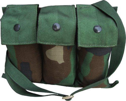 G.I. Military MOLLE II Six Magazine Bandolier - Woodland Camouflage