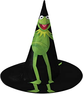 Kermit The Frog Halloween Witch Hat Party Cosplay Cap Decoration For Boys Girls Adults 1 PCS