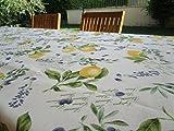 Pago Poco Mantel redondo fantasía limones 100% algodón Made in Italy novedad 2021 (rollo x 180)