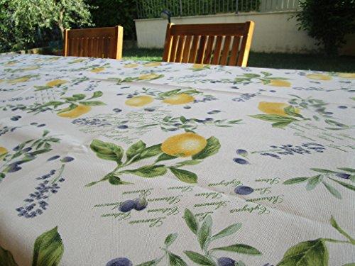 Pago wenig Tischdecke Baumwolle Zitronen Mis. 140x 180cm. Größen: 140x 180,140X 240,140X 360, rund 180cm, quadratisch 140x 140cm. Made in Italy.