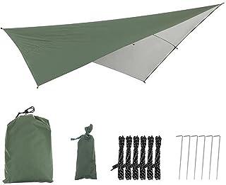 290 * 290cm Ultralight Vattentät Tarp Tent Sun Shelter Beach Outdoor Camping Garden Sun Awning Canopy Sunshade Hammock Rai...