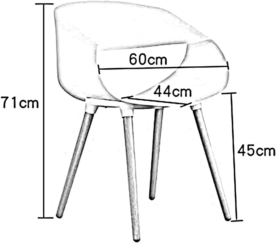 RENJUN Chaise de Salle à Manger Moderne avec Un Design profilé et Une Jambe en Plastique Chaise de réunion (Color : Green) Black