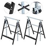 Mothinessto Soporte de elevación 2Pcs / Set Soporte de Soporte 200 kg Capacidad de Carga Desmontable para Mesa de Trabajo