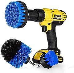 "StillCool Drill Brush Cepillos para el Taladro, 3pcs Electric Drill Brush 2""3.5"" 4""Cepillo eléctrico para Automóvil, Alfombra, Baño, Piso de madera, Cuarto de lavado, Cocina (Azul)"