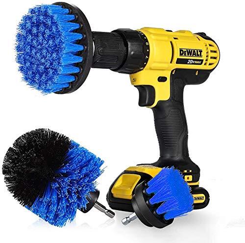 "StillCool Drill Brush Cepillos para el Taladro, 3pcs Electric Drill Brush 2\""3.5\"" 4\""Cepillo eléctrico para Automóvil, Alfombra, Baño, Piso de madera, Cuarto de lavado, Cocina (Azul)"