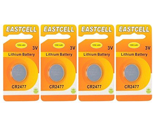 EASTCELL 4 x CR2477 3V Lithium Knopfzelle 1050 mAh (1 x EINZELBLISTER) EINWEG Markenware