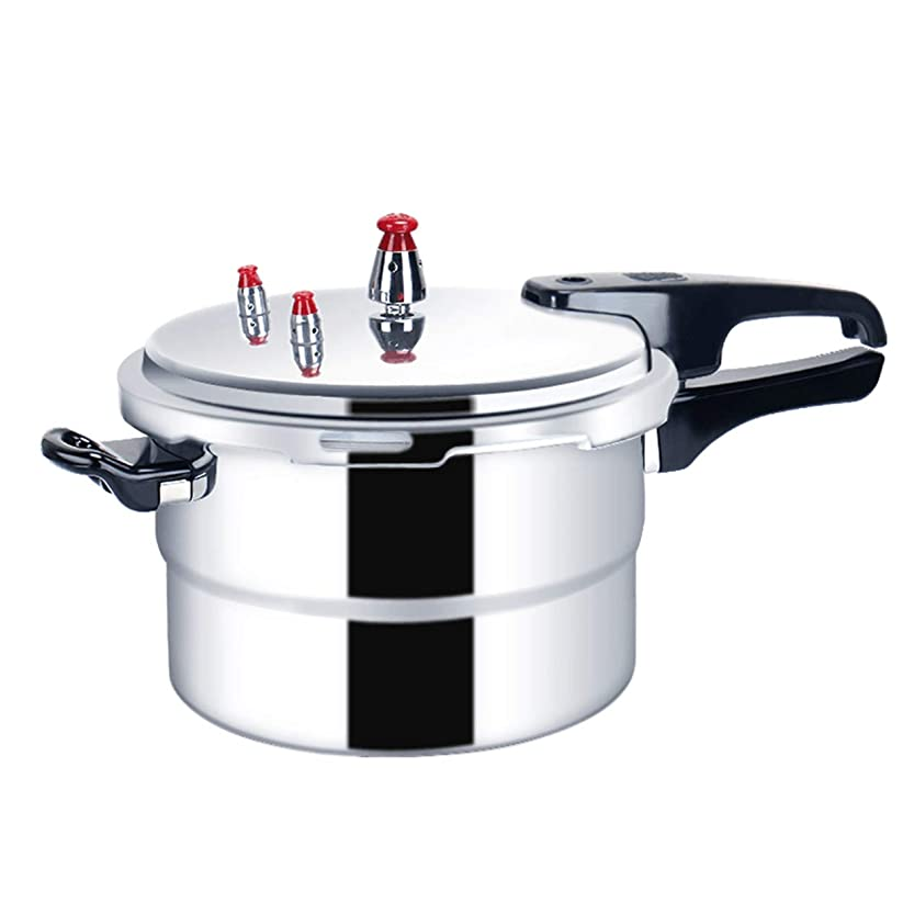 推進変更可能避けるgetteer 圧力鍋 高圧の鍋 IH対応 3層底 超高圧で省エネ、時短ができる圧力鍋!! 1人~2人~3人~4人~5人~6人~8人 (ガスレンジ+電磁炉 通用, 18CM)