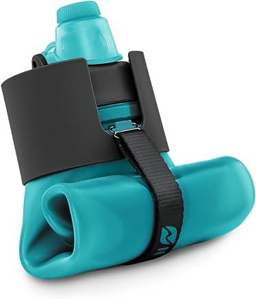 Nomader Bottiglia Acqua Pieghevole con Tappo a Vite a Tenuta Stagna per Viaggiare, Fare Sport e per attività all'Aperto – Senza BPA, 650 ml