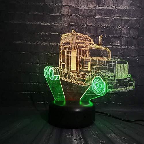 Super Car 3D Veilleuse Led Lampe 7 Changement de Couleur Tactile USB Table Cadeau Enfants Jouets Chambre Décor De Noël Saint Valentin Cadeau D'anniversaire Cadeau