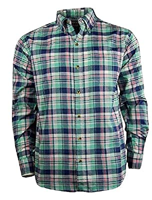 Casual Country Men's Long Sleeve Button Down Shirt with Pocket | Plaid Checked