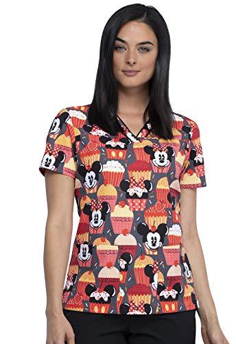 CHEROKEE Tooniforms V-Neck Kasack, Schlupfhemd mit Motiv Mickey & Cupcakes (XL)