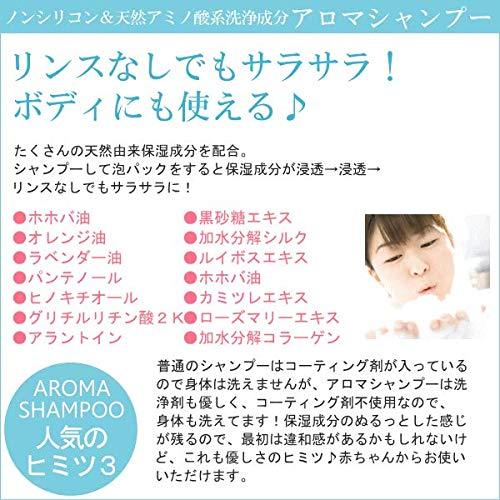 アロマシャンプー600mL天然アミノ酸系ノンシリコンシャンプー【メーカー正規品】