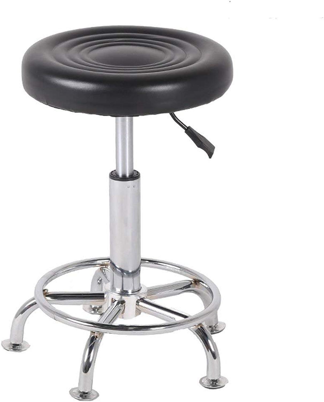 JZX Seat, Bar Chair, Liftable and redatable Reception Bar Stool, European Sponge Cushion Bar Stool, Cash Register Chair