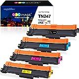 GPC Image TN247 TN243 Compatible Cartuchos de tóner Reemplazo para Brother DCP-L3510CDW DCP-L3517CDW DCP-L3550CDW HL-L3210CW HL-L3230CDW HL-L3270CDW MFC-L3710CW MFC-L3730CDN Impresora, 4-Pack