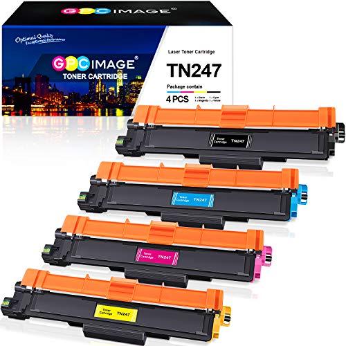 GPC Image TN247 TN243 Kompatibel für Brother TN-247 TN-243 Toner Patronen für L3210CW L3550CDW L3750CDW L3230CDW L3770CDW L3270CDW L3510CDW L3710CW L3730CDN (Schwarz / Cyan / Magenta / Gelb, 4 Pack)
