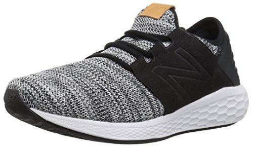 New Balance Men's Cruz V2 Fresh Foam Running Shoe, white/black, 7 2E US ✅