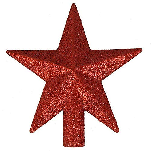 Kurt Adler 4' Petite Treasures Red Glittered Mini Star Christmas Tree Topper - Unlit