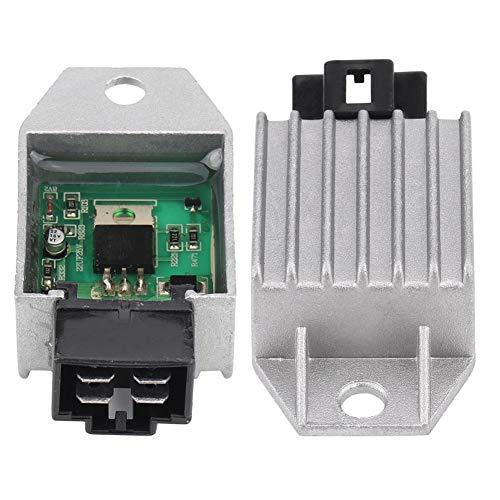 4-Pin Stecker Regler Gleichrichter, Keenso 12V Regler Gleichrichter für 50cc bis 150cc ATV Moped Scooter