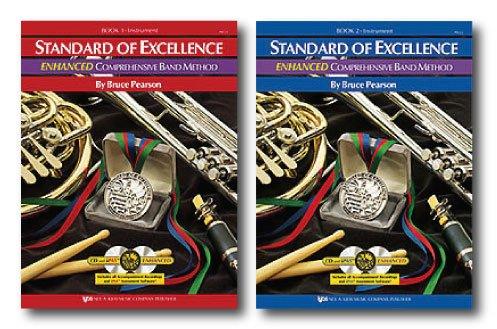 Estándar de excelencia Enhanced banda método para bajo eléctrico–Dos libro Set–incluye libro de libro 1y 2de la–con CD