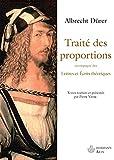 Traité des proportions - Lettres et écrits théoriques
