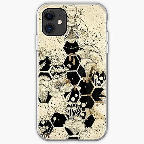 Lravieyew iPhone 11 12 PRO Max XR 6/7/8 SE 2020,Work Comb Black Bee Line Bumble Honey Sweet AntiGraffio Cover