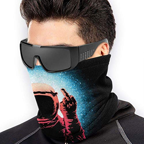 Preisvergleich Produktbild NA Winddichtes Stirnband, Astronaut Fuck You Gesichtsschutz Kopfbedeckung,  DIY Schutzgesicht Schal Für Workout Frauen Männer, 26X30Cm