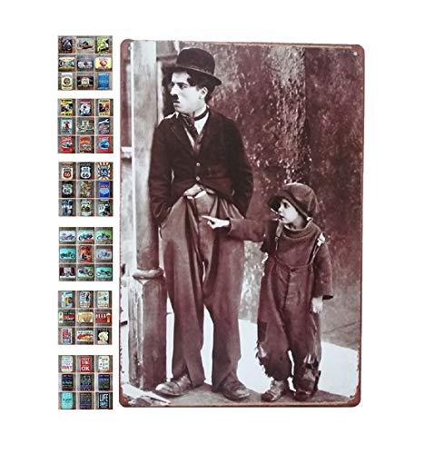 Ducomi Targhe Vintage Metallo Decorative per Cucina e Casa - Targa con Stampe Americane Decorazione Muro Parete - Quadro Metallico da Appendere - Poster Accessori per Arredo Soggiorno (Classic 287)