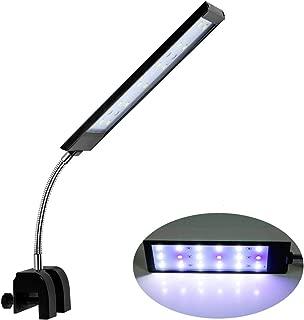 ECtENX LED Aquarium Light, Fish Tank Light, Clip on Fish Tank Lighting Color with White & Blue