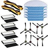Replacement Ecovacs Accessories Main Brush/Side Bursh/Filters/Mop Clothes for Ecovacs Deebot M80 M80 pro M81 M81 pro Deebot m80 Replacement Parts Deebot m81 pro Replacement Parts (Accessories Kit)