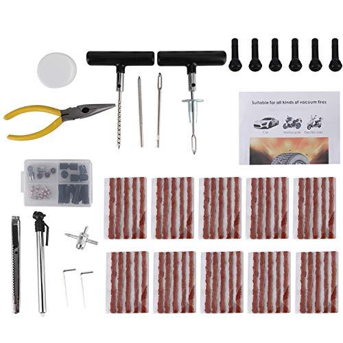 Herramientas de reparación de neumáticos de seguridad ligera, caja de almacenamiento, kit de herramientas de reparación de neumáticos, bricolaje para reparación de motocicletas para bicicleta