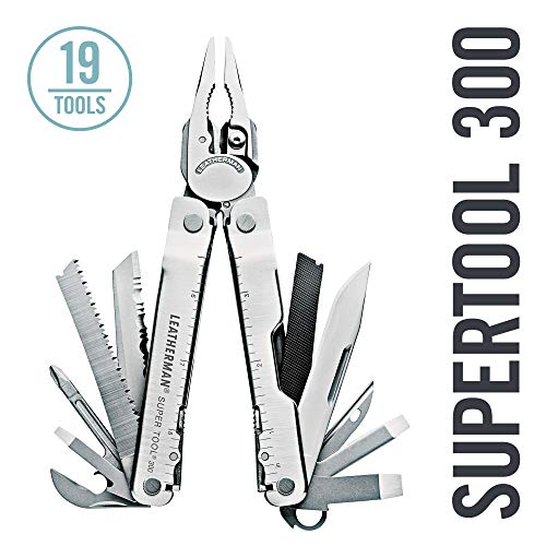 LEATHERMAN - Super Tool 300 Multitool with Premium Replaceable Wire Cutters and Saw, Stainless Steel with Nylon Sheath