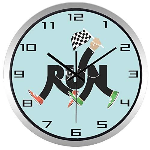 Horloge Murale Creative Leg Run Sport Marathon Horloge Murale Marche Course Match Match Horloge 12 Pouces B130S