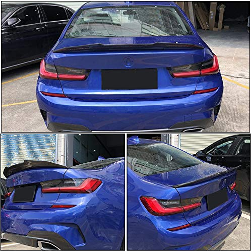 MCARCAR KIT Trunk Spoiler fits BMW 3 Series G20 Sedan 2019UP Factory Outlet Carbon Fiber CF 320i 330i 330e M340i 318d 320d 330d Auto Rear Boot Lid Highkick Wing Lip