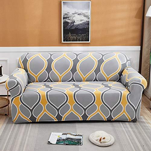 Fundas Protectoras de sofá con Estampado de Cuerdas para Sala de Estar Funda elástica elástica Fundas seccionales para sofá de Esquina A16 1 Plaza
