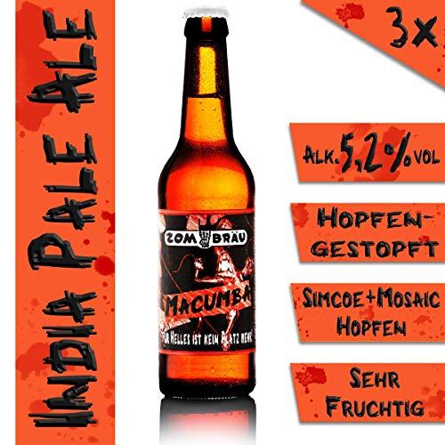 Zombräu Craft Beer Probierpaket – 12 x 0,33l Bier Set – In Handarbeit gebraute Biersorten mit einzigartigem Geschmack – Zum Bier Tasting oder als perfekte Geschenkidee - 5