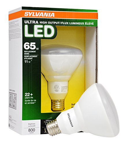 SYLVANIA 65W Equivalent Dimmable Soft White BR30 LED Flood Light Bulb