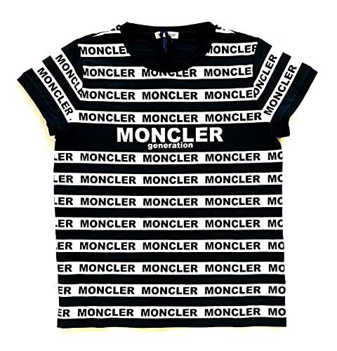Moncler Junior Maglia t-Shirt Bambino 8C708 108790A Bianco e Nero 12 Anni