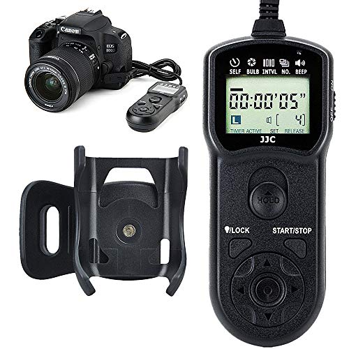 JJC Timer Remote Control Shutter Release for Canon EOS R 90D 80D 77D 70D Rebel T7 T7i T6 T6s T6i T5 T5i T4i T3i T2i SL1 SL2 M5 M6 II G1X II III G3X G5X SX70 HS SX60HS G10 G11 G12 as Canon RS-60E3