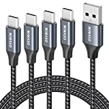 NIMASO Cable USB C 3A[4 Pack 0.3M+1M+2M+3M],Cable USB Tipo C para Carga y Sincronización...
