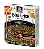 Carmencita - Paella de arroz negro con azafrán, 256 g (9,03 oz)