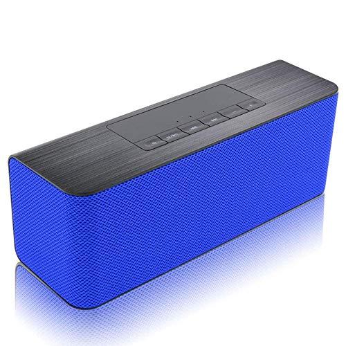 TIANYOU Botón Portátil Bluetooth 5.0 Altavoz 5.0, Dos Altavoces de 5W, Altavoz Exterior de Subwoofer, Cuatro Modos de Reproducción, Función de Radio Fm, Llamada con Manos Libres, Ad
